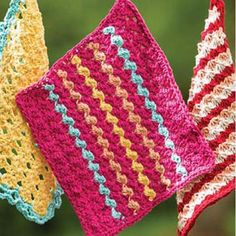 Summer Waves Washcloth Free Download