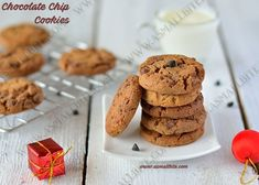 Choco chip cookies recipe / Eggless Chocolate Chip cookies is also called as drop cookies from the US invented by chef Ruth Graves Wakefield in Eggless Cookie Recipes, Drop Cookie Recipes, Chip Cookie Recipe, Snack Recipes, Choco Chip Cookies, Choco Chips, Chocochip Cookies Recipe, Chocolat Recipe, Cookie Packaging