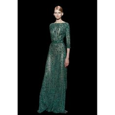Emerald Green Lace Long Sleeves Prom Gown With Fully Beads And Sequins Beautiful Evening Gowns, Beautiful Dresses, Evening Dresses, Prom Dresses, Long Dresses, Wedding Dresses, Green Lace Dresses, Green Dress, Nice Dresses