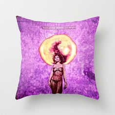 FREE WORLDWIDE SHIPPING THROUGH JULY 13! The Muse Throw Pillow by LadyJennD - $20.00