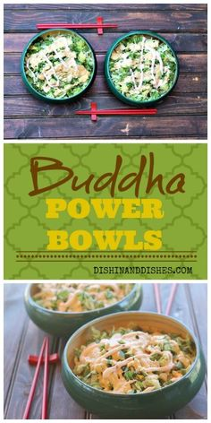 Buddha Power Bowls - brown rice/quinoa base layered with black beans, chicken, napa cabbage, cilantro, jalapenos and avocado. Topped with a sesame ginger sauce. Just like Wilda's Buddha Bowls in Redding, California that I fell in love with! #sensationalsides #buddhabowl #buddhabowls #foodnetwork