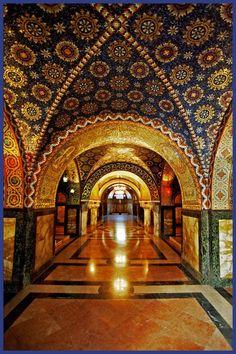 Stunning mosaics and marble