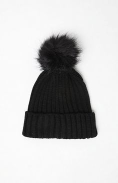 fc2239c2425 Kendall   Kylie for PacSun Faux Fur Pom Beanie Kendall And Kylie