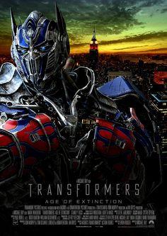 Transformers Age Of Extinction Main Teaser Poster by OAKANSHIELD (John)