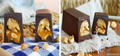 Snickers med flytende karamellfyll