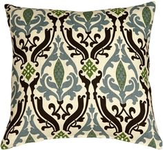 The Pillow Decor decorative throw pillow collection includes the Linen Damask Print Green Black Throw Pillow Buy Pillows, Floral Throw Pillows, Linen Pillows, Outdoor Throw Pillows, Decorative Throw Pillows, Linen Fabric, Classic Pillows, Green Home Decor, Green Bedding