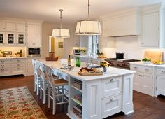 one structural column in kitchen island for the home pinterest posts islands and kitchen showroom: guy kitchen meg