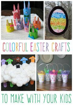Colorful kid's crafts for Easter!