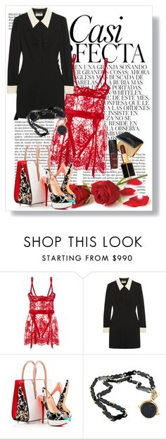 """""""Casi perfecta."""" by petitemia ❤ liked on Polyvore featuring Agent Provocateur, Yves Saint Laurent, Tom Ford, Christian Louboutin, Ralph Lauren and Whiteley"""