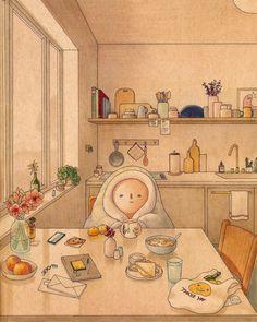 Pretty Art, Cute Art, Aesthetic Art, Aesthetic Anime, Anime Scenery Wallpaper, Kawaii Wallpaper, Cartoon Art, Cartoon Illustrations, Cartoon Characters
