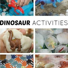 Easy preschool dinosaur activities for exploring and learning all about dinosaurs. Our dinosaur activities feature great hands on learning and sensory play. Preschool Dinosaur, Dinosaur Activities, Literacy Activities, Activities For Kids, Real Dinosaur, Dinosaur Play, The Good Dinosaur, Science For Kids, Science And Nature