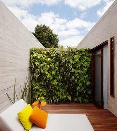 Os nove jardins verticais - num total de 300 metros quadrados - utilizaram 20 tipos diferentes de plantas e 6,2 mil mudas