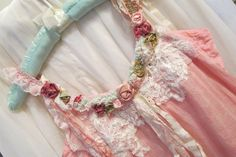 Feminine Boho Chic Top Upcycled Shabby Style Summery Gypsy  Dress Bohemian Top  Vintage Inspired Rose Top