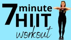 HIIT is no doubt a terrific way to melt off those body fat. The workout intends at quick weight loss and the supreme reduction of fat cells that save fat reserves. 7 Min Workout, Hiit Workout At Home, Workout Videos, At Home Workouts, Seven Minute Workout, Step Workout, Exercise Videos, Lucy Wyndham, 7 Day Challenge