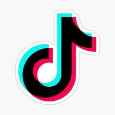 'tik tok logo' Sticker by Stickers Cool, Meme Stickers, Brand Stickers, Aesthetic Stickers, Aesthetic Backgrounds, Como Fazer Squishies, Logo Sticker, Sticker Design, Snapchat Logo