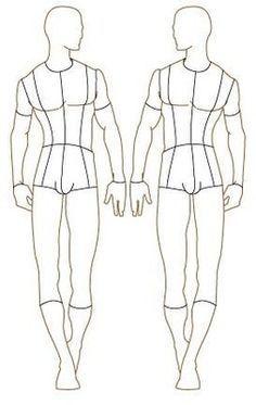 Resultado de imagem para croqui masculino base