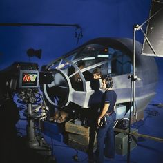 30 Awesome Behind The Scenes Photos From Old Movies: Behind the scenes of the Star Wars Holiday special.
