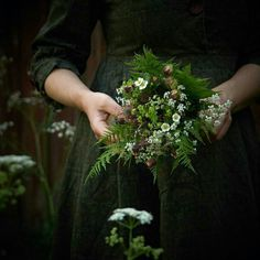 Beautiful Things • alrauna: Juliane Solvång (@onebouquetperday) Woodlands Cottage, Cottage In The Woods, Wood Cottage, Cow Parsley, Wild Strawberries, Photos Voyages, Beltane, My Flower, Mother Earth