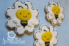 Bumble Bee Cookies by Amigalletas on Etsy, $39.00