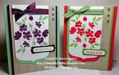 Stampin' By The Bay: Goodbye Painted Petals and Party Pennants
