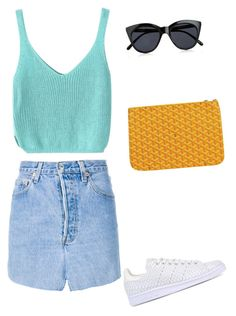 """""""Untitled #2215"""" by ncmilliebear ❤ liked on Polyvore featuring Vetements, adidas Originals, Le Specs and Goyard"""