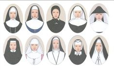 The Nun's habit (varying from year and country)