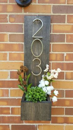 Rustic Address Planter Address Sign House Numbers Sign Address Plaque New House Address Planter Vertical Address Sign Modern Numbers Farmhouse Side Table, Rustic Farmhouse, Farmhouse Style, Home Signs, Cool Rooms, Porch Decorating, Decorating Ideas, Home Projects, Scrap Wood Projects