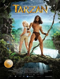 Tarzan and Jane Porter face a mercenary army dispatched by the evil CEO of Greystoke Energies, a man who took over the company from Tarzan's parents, after they died in a plane Tarzan 3d, Tarzan Movie, Tarzan Disney, Tarzan And Jane, Tarzan Of The Apes, Jane Porter, Posters, Movie Posters, Jungles