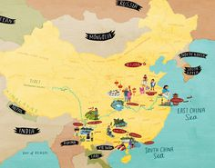 Map of China for an animated BBC programme China Map, Illustrated Maps, Nepal, Laos, Childrens Books, Diagram, Animation, India, Bbc
