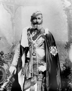 Maharaja Pratap Singh, Maharaja of Orchha - about 1903