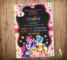 my little pony invitations - Google Search