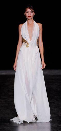 #Greek style wedding dress#