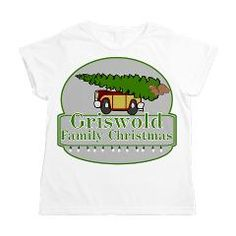 #Griswold Family Christmas Women's All Over Print T, station wagon, Christmas tree and squirrel. Clark Griswold, funny.