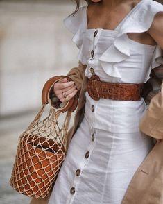LPA button up ruffle tank + button up midi skirt + @staud.clothing bag. chiiiicccccccc