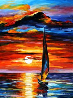 "Sail away. The picture itself is very ""starving artist"" but the colors are divine."