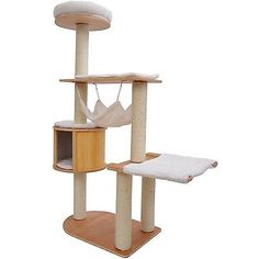 """New 60"""" Cat Tree Pet Condo House Scratch Post Condo Tower Furniture Toy Hammock"""