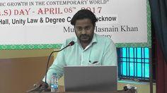 Dr. Ali Mahdi Naqvi speaking at Ali Day Symposium on 8 April, 2017.