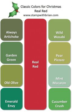 Christmas Color Inspiration: Real Red Paired with Greens