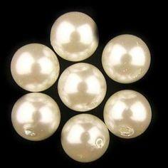 B Acrylic Beads Pearlish White 12mm Round, 200 grams bag. CS-113-26
