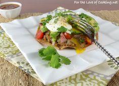 Breakfast Tostada with Steak and Avocado