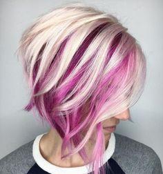 Short asymmetrical bobs hairstyle haircut 18