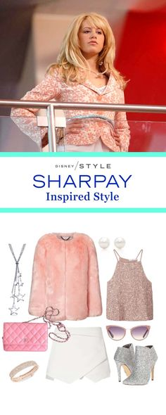 Sharpay's love of pink and all things sparkly still hits the mark in 2016. For this High School Musical updated look pair a furry pink jacket and glittery top that Sharpay would most definitely approve of.