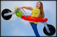 Ride-in Motorcycle Balloon! www.FancyPantsBalloons.com #balloons #party #kids #motorcycle