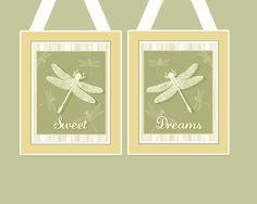 Dragonfly sage print for nursery