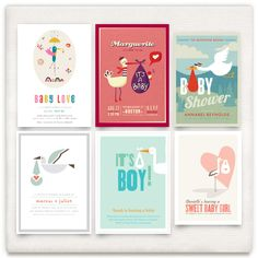 'Stork Love' from Minted