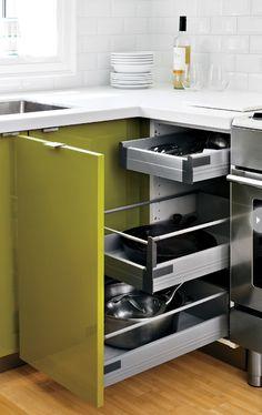 Kitchen storage solutions {PHOTO: Donna Griffith}