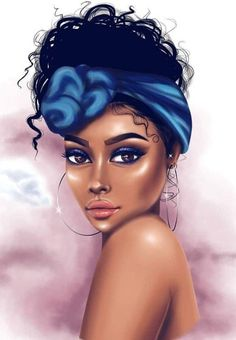 👑✨ Melanin Magic ✨👑 I Love this, I wish I knew the artist 🥰 - - - Black Love Art, Black Girl Art, My Black Is Beautiful, Black Art Painting, Black Artwork, Portrait Art, Portraits, Art Noir, Black Girl Cartoon