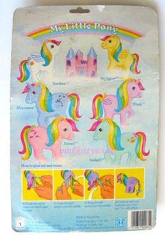 UK rainbow pony backcard PKW