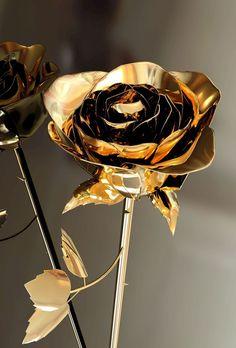 pretty gold rose
