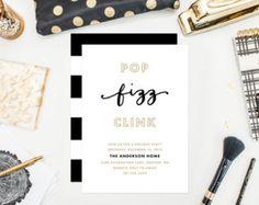 Printable - Pop Fizz Clink Invitation
